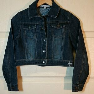 DKNY EUC girls jean jacket size L